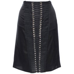S/S 2004 TOM FORD for GUCCI CRYSTAL EMBELLISHED SKIRT 38 - 4 New with tags!