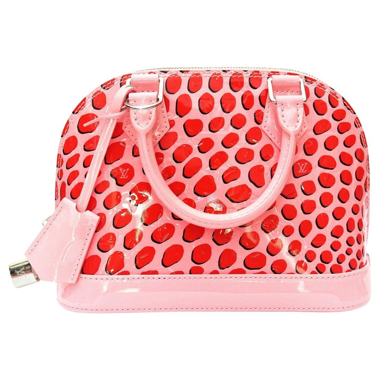 Louis Vuitton Alma BB Vernis Jungle Dots Handbag