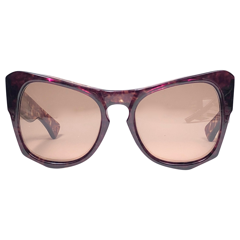 "New Vintage Yves Saint Laurent YSL "" Vanessa "" Tortoise Translucent Sunglasses"