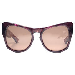 "New Vintage Yves Saint Laurent YSL "" Vanessa "" Tortoise Translucent Sunglasses"