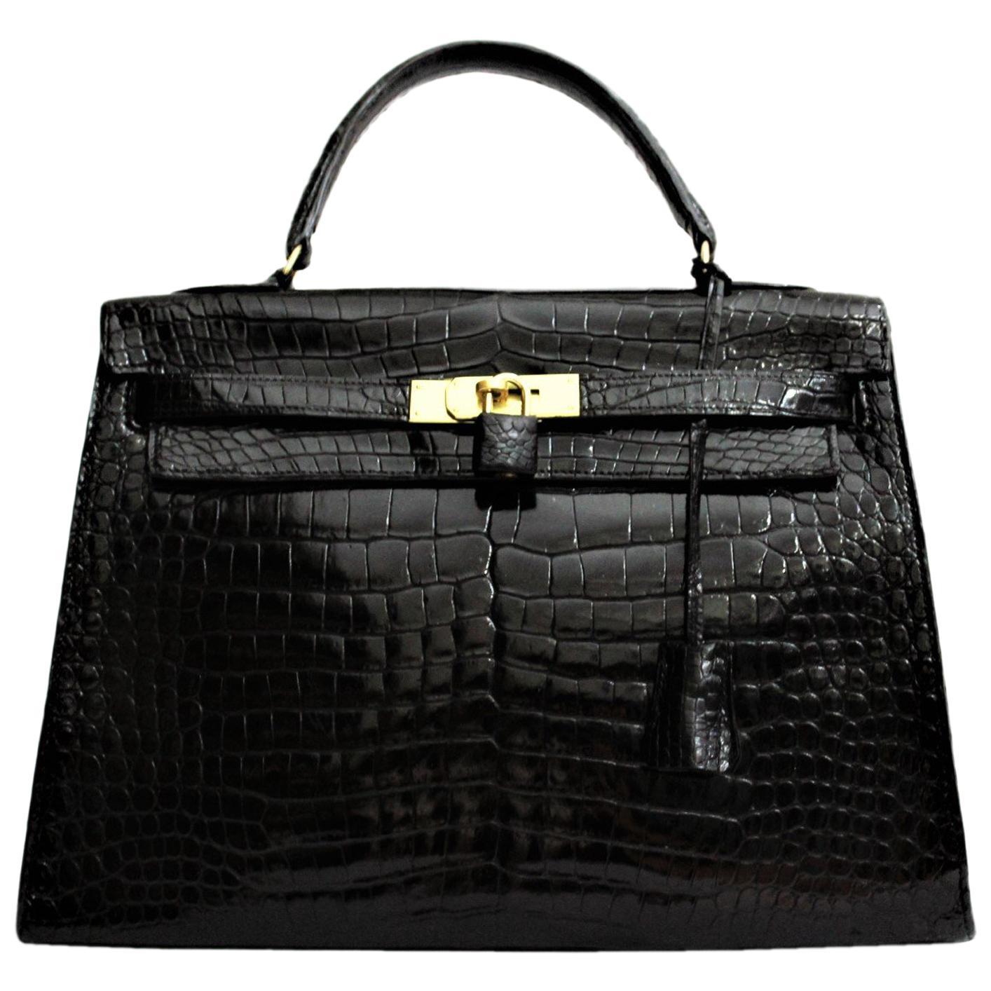 42252b538583 ... coupon code for hermès black crocodile leather kelly 32cm bag fa03e  dfdf3
