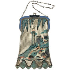 Whiting and Davis Mesh Lighthouse Handbag 1920s