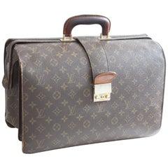 Vintage Louis Vuitton Monogram Serviette Fermoir Briefcase 16in Travel Bag Saks