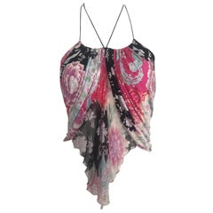 Emanuel Ungaro 1990s Silk Floral Camisole Size 4.