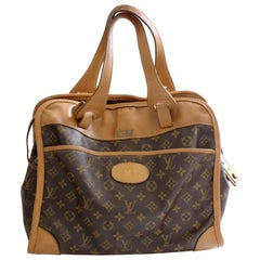 Louis Vuitton Carry On Bag Travel Tote Monogram Canvas & Leather French Co 1970s