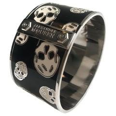 Alexander Mcqueen skull silver tone cuff bracelet