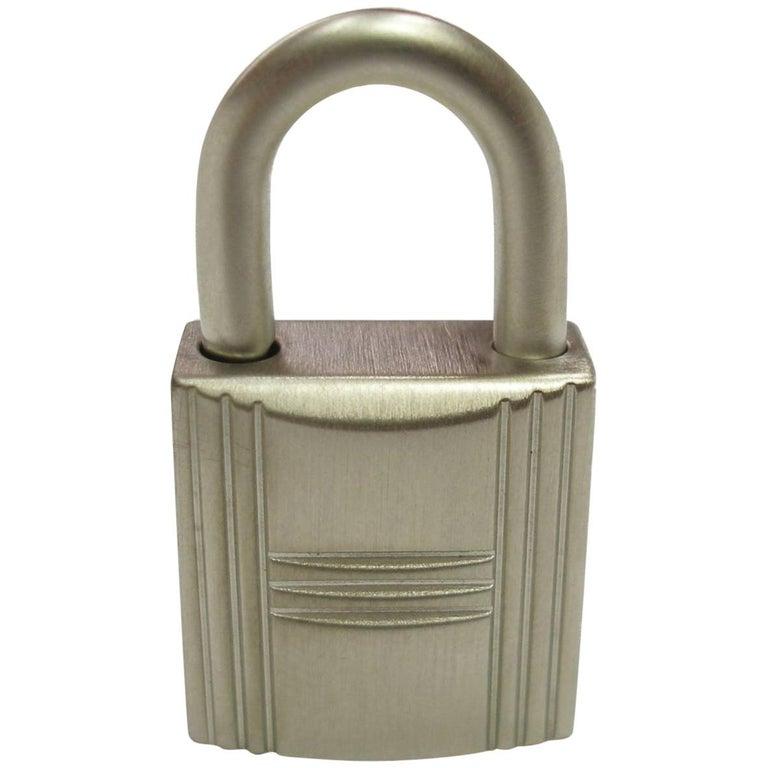 Hermès Cadenas Lock & 2 Keys For Birkin or Kelly bag Brush Finish/ BRAND NEW