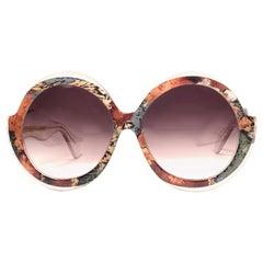 New Vintage Ultra Sudan H Brown Gradient Lens Oversized 1960's Sunglasses