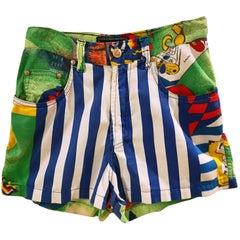 Versace Multicoloured Cotton Shorts