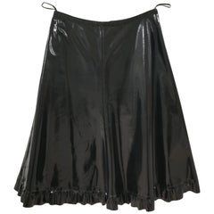 Prada Black patent Leather Skirt