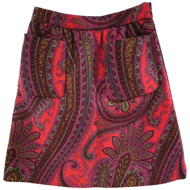 Miu Miu multicoloured Wool Skirt