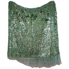 BluGirl Green Sequins Skirt