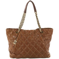Chanel Coco Pleats Tote Quilted Glazed Caviar Large