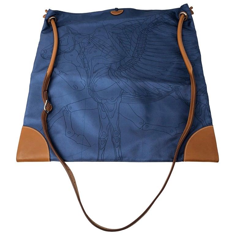 39c24edb58f4 Hermes Blue Silky City Bag For Sale at 1stdibs