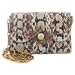 Gucci Broadway Bee Shoulder Bag Embellished Python Mini