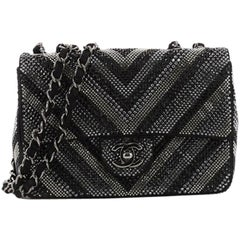 Chanel CC Flap Bag Strass Embellished Leather Small