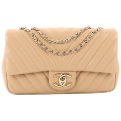 Chanel Classic Single Flap Bag Chevron Lambskin Mini