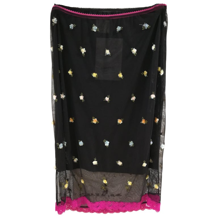 Dolce & Gabbana Black See Throug Skirt