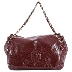 Chanel Rock and Chain Flap Bag Patent Vinyl Large