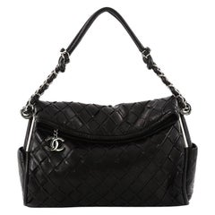 Chanel Ultimate Soft Hobo Sombrero Woven Leather