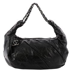 Chanel Twisted Hobo Glazed Calfskin Large