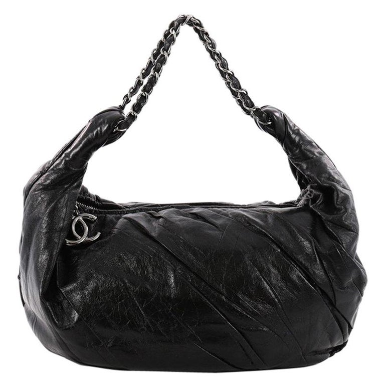 9fc56dc13ed3 Chanel Twisted Hobo Glazed Calfskin Large For Sale at 1stdibs