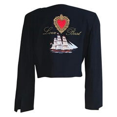 Moschino Couture Vintage 1980s Love Boat Jacket with Life Ring Buttons