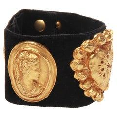 Christian lacroix black velvet cuff