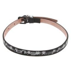 Alexander McQueen Skull Charm Printed Bracelet