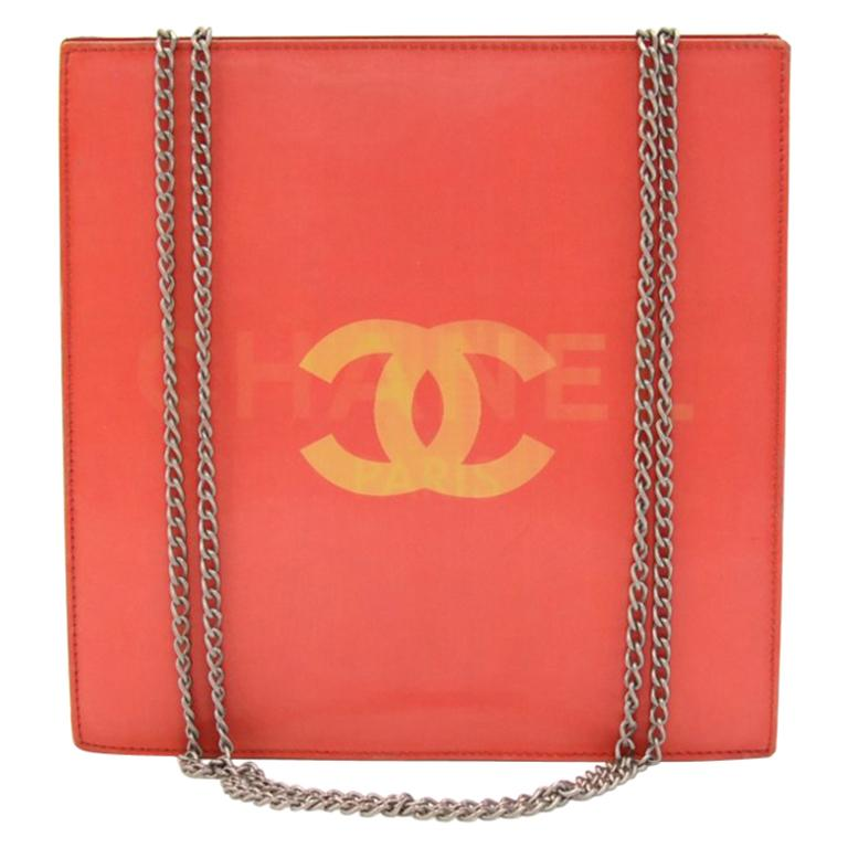 Chanel Holographic Red Vinyl Chain Shoulder Bag