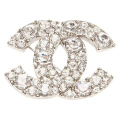 Chanel Diamante Iconic CC Swarovski Brooch