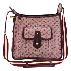 Louis Vuitton Besace Mary Kate Red Monogram Mini Canvas Shoulder Bag