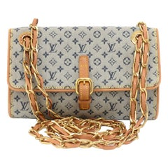 Louis Vuitton Camille Blue Mini Monogram Canvas Shoulder Bag