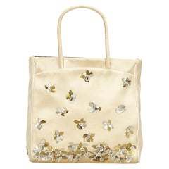 Prada Gold x Silver Satin Tote Bag