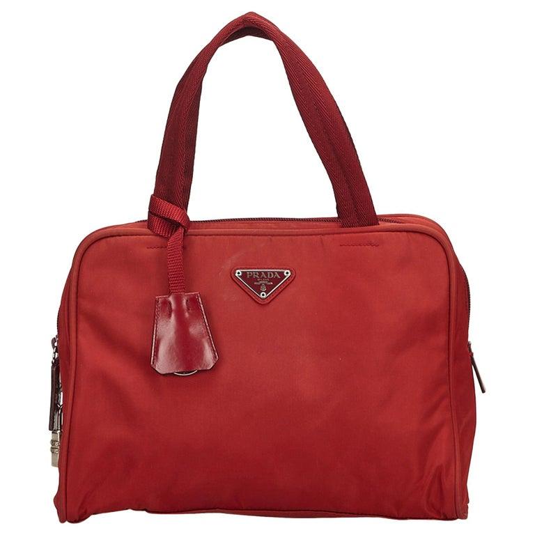 f53c446ef8d2 Prada Red Nylon Handbag at 1stdibs