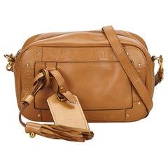 Chloe Brown Leather Eden Crossbody Bag