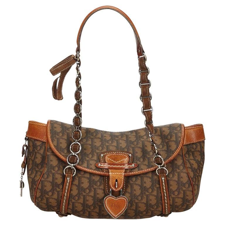 fdfdba8ba059 Dior Brown Oblique Romantique Handbag For Sale at 1stdibs