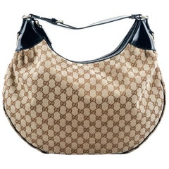 Gucci Hobo Brown Canvas