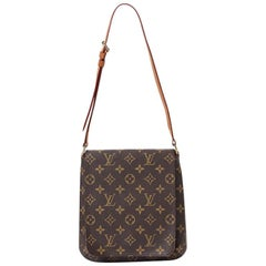 Louis Vuitton Musette salsa Brown Coated Canvas