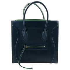 Celine  Phantom Dark Green Calf Leather