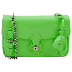 Ralph Lauren Ricky Chain Bag Green Leather