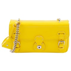 Ralph Lauren Ricky Chain Bag Yellow Leather