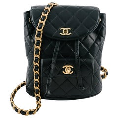Chanel Black Leather Backpack