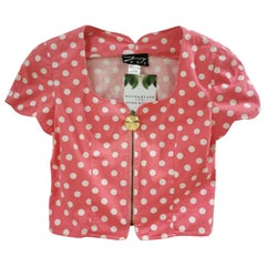 Genny Pink White Pois Jacket