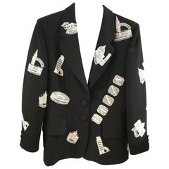 "Moschino Couture Cities ""Made in Italy"" Black Jacket"