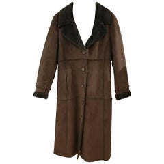 Balmain Long Brown Coat