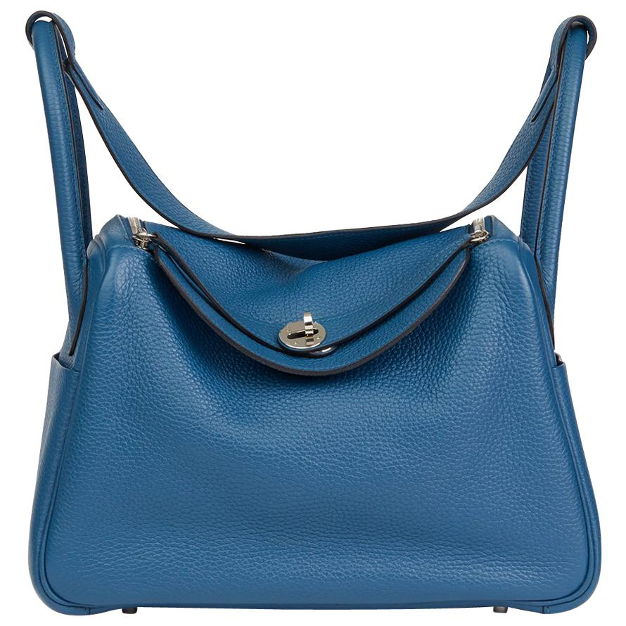 e1796197c7f7 ... discount code for 2013 hermes blue togo blue thalassa leather lindy 30  0ab8f 04079