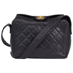 1992 Chanel Navy Quilted Lambskin Vintage Classic Single Flap Bag
