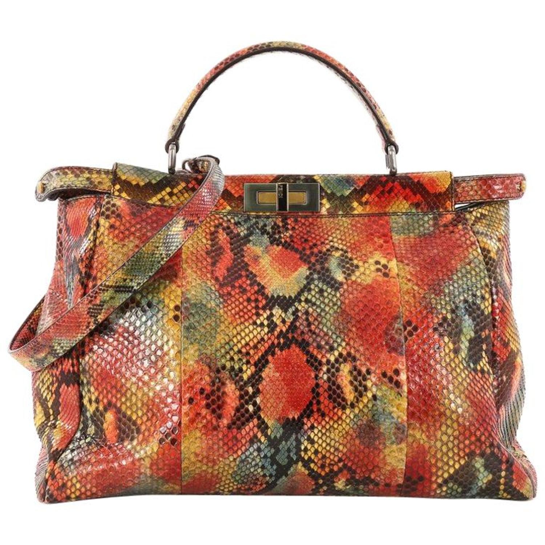 f23f7ccd88 Fendi Peekaboo Handbag Python Large at 1stdibs