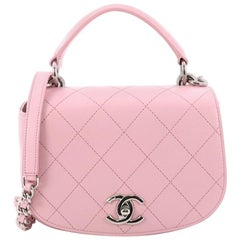 Chanel Ring My Bag Top Handle Quilted Calfskin Small